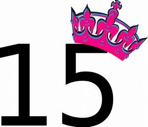 Pink Tilted Tiara And Number 15 Clip Art at Clker.com ...