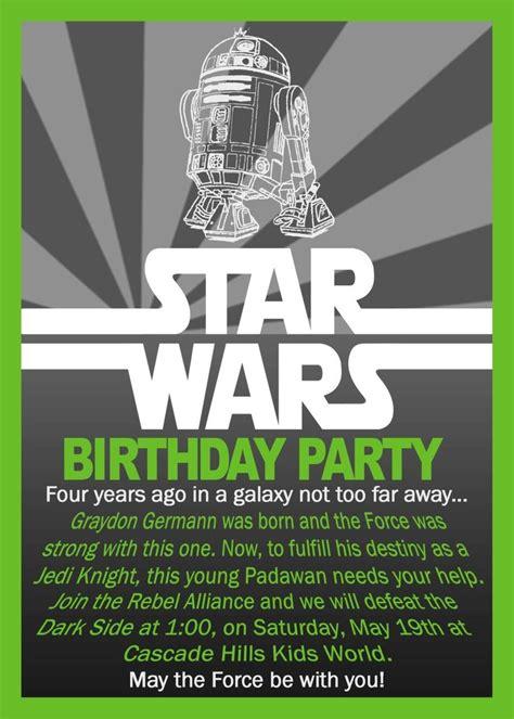 printable star wars birthday invitations envytate