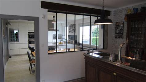 separation en verre cuisine salon separation de cuisine en verre uteyo