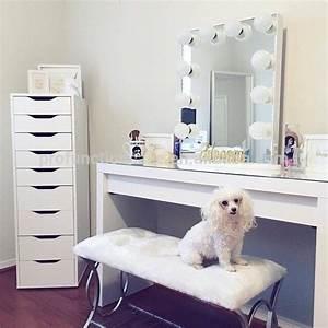 Miroir Avec Lumiere Pour Coiffeuse : 2016 meilleur usa de courtoisie clair miroir avec led ampoules australien de maquillage ~ Teatrodelosmanantiales.com Idées de Décoration