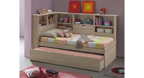 Ballini Single Bed With Trundle And Bookcase