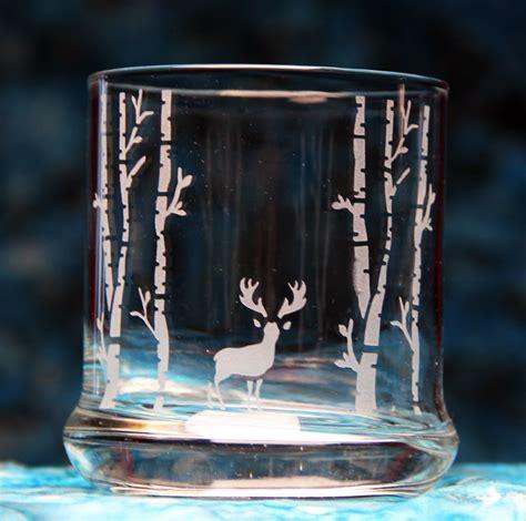 woodland deer glass etchtalkcom glass etching projects