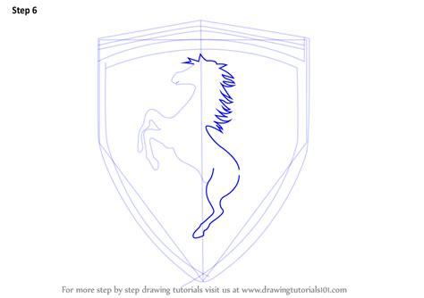 ferrari logo sketch learn how to draw ferrari logo brand logos step by step