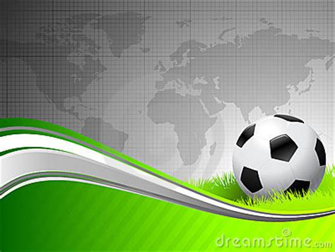 soccer ball  abstract green background  worl royalty