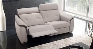 canape cuir relax electrique 2 places canape idees de With canape cuir electrique 2 places