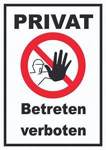 Miethäuser Von Privat : verbotsschild privat betreten verboten verbot schilder privat schilder f r die tier und ~ Sanjose-hotels-ca.com Haus und Dekorationen