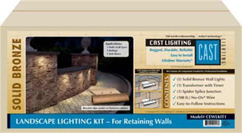 led landscape lighting kit for retaining walls cast lighting