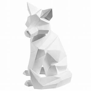Maison Du Monde Origami : statuette renard blanc mat arthur maisons du monde ~ Melissatoandfro.com Idées de Décoration