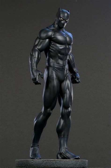 Black Panther Classic Museum Statue Sculpted By Jason