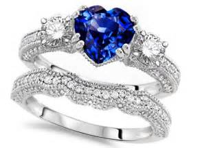 blue sapphire wedding ring sets shape sapphire engagement wedding set engagement rings review