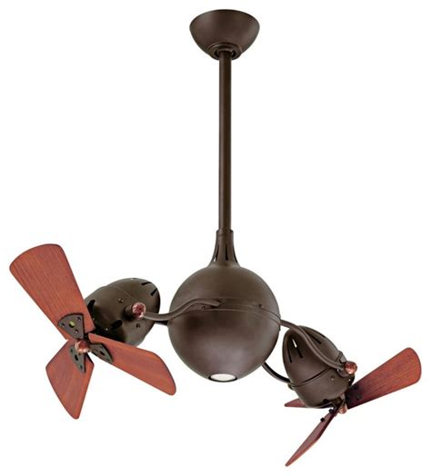 double head ceiling fan with light contemporary 39 quot acqua textured bronze dual head