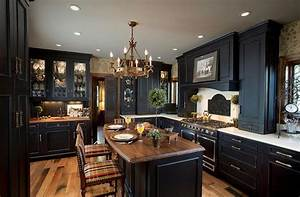 20 beautiful kitchens with dark kitchen cabinets page 4 of 4 With kitchen cabinet trends 2018 combined with gear wall art with clock