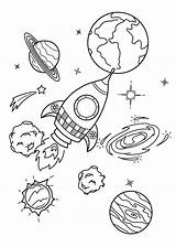 Planets Spaceship Coloring Printable Children Categories sketch template