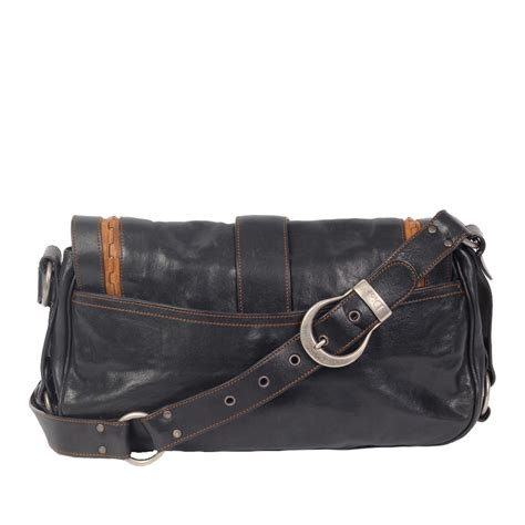 christian dior gaucho leather saddle bag luxity