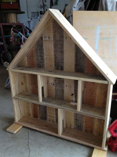 scrap wood doll house   reused pallet wood