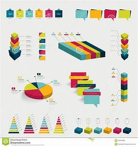 Collections Of Infographics Flat Design Diagrams  Stock Vector