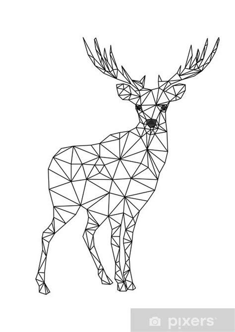 poly character  deer designs  xmas christmas