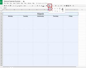 how to create a free editorial calendar using google docs With google docs insert page border