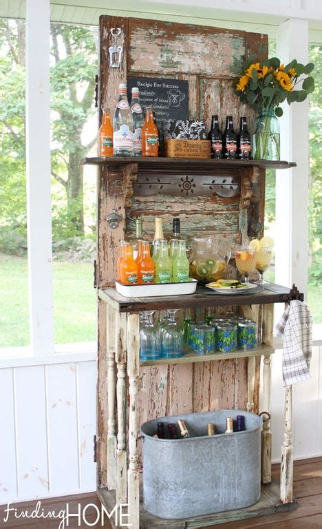 diy upcycled outdoor beverage station infarrantly creative diy outdoor bar  door