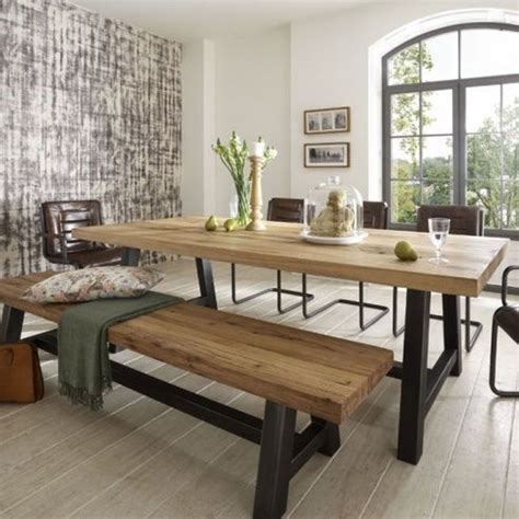 Wood Long Dining Table Furniture For Minimalist Dining