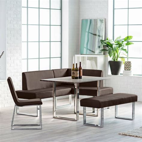 corner dining set breakfast nook leather bench chairs