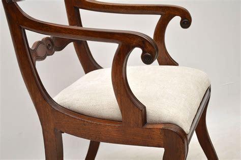 Antique Regency Mahogany Carver Armchair