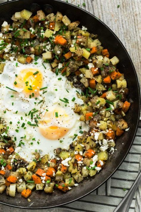Root Vegetable Hash With Eggs And Feta  Naturally Ella