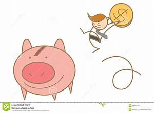 Man Jumping To Save Money Royalty Free Stock Photography ...