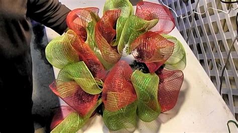 deco mesh wreath  artificial evergreen