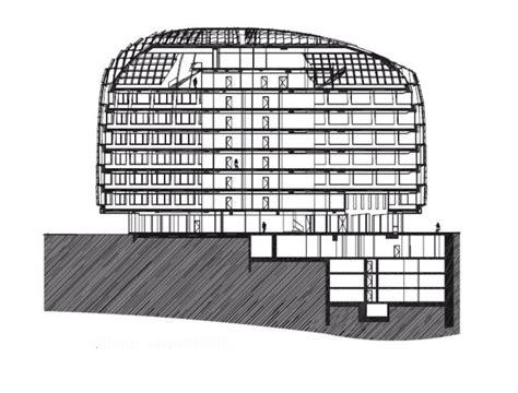 coupe transversale galeo siège social de bouygues immobilier atelier christian de portzarc issy les moulineaux équerre d argent 2009