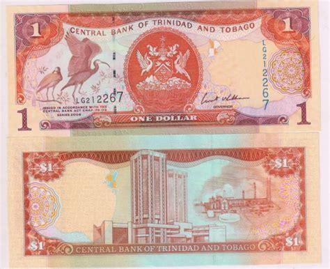 trinidad  tobago  unc currency note kb coins currencies