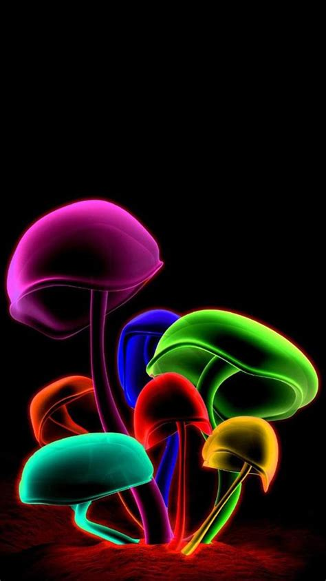 3d Color Mushroom Iphone 6 Wallpapers Hd