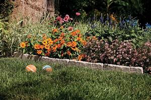 Suncast, 10, U0026, 39, Landscape, Stone, Border, Edging, Garden, Decorative, Lawn, Flowerbed, Yard