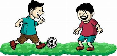 Playing Friends Clipart Football Play Clip Boy