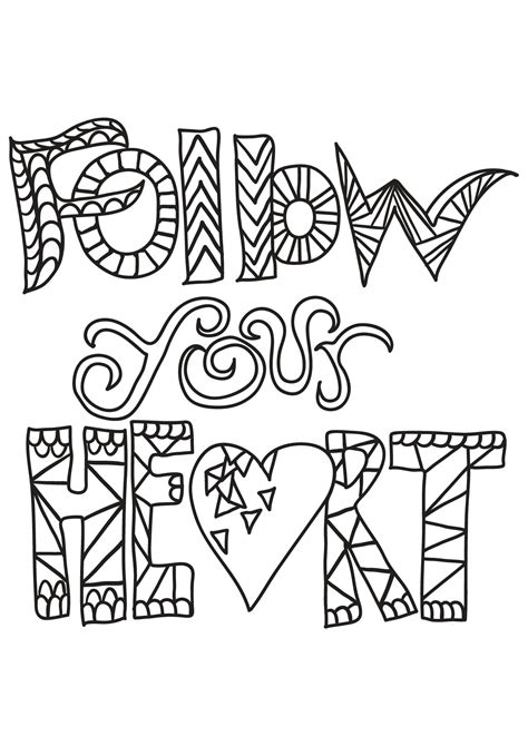 book quote  quotes adult coloring pages
