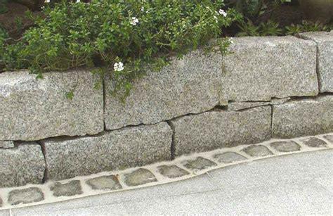 Mauer Granitsteine  Mischungsverhältnis Zement