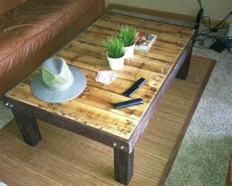 how to make an inexpensive coffee stained wood pallet