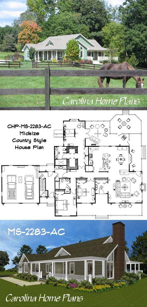 open floor plan house plans midsize house plan ms 2283 ac carolina open floor