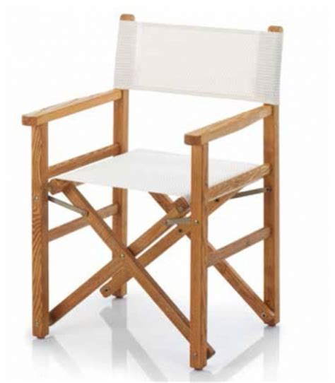 fauteuil de metteur en fauteuil metteur en sc 232 ne bois et toile pliant ramberti