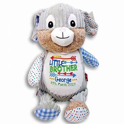 Soft Teddy Brother Personalised Toy Announcement Embroidered
