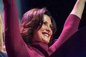 Whitmer gives victory speech to energized crowd at ...