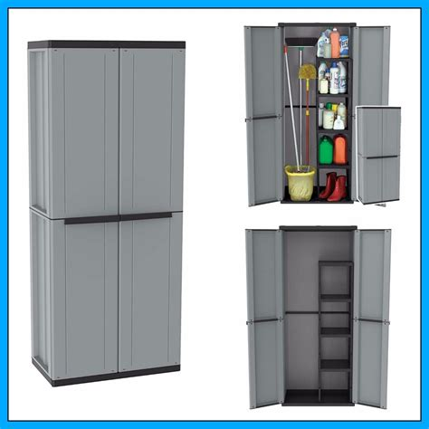 plastic storage cabinets with doors outdoor utility cabinet 2 door plastic cupboard shelves