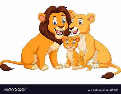 Lion Cartoon Vectorstock Isolated Zombie