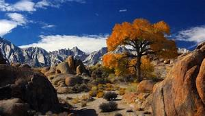 Autumn, In, Alabama, Hills, With, Mount, Whitney, The, Highest