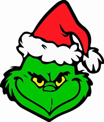Grinch Clipart Face Christmas Svg Vector Cutting