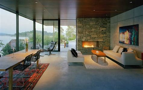 stone  glass house   great view  norway