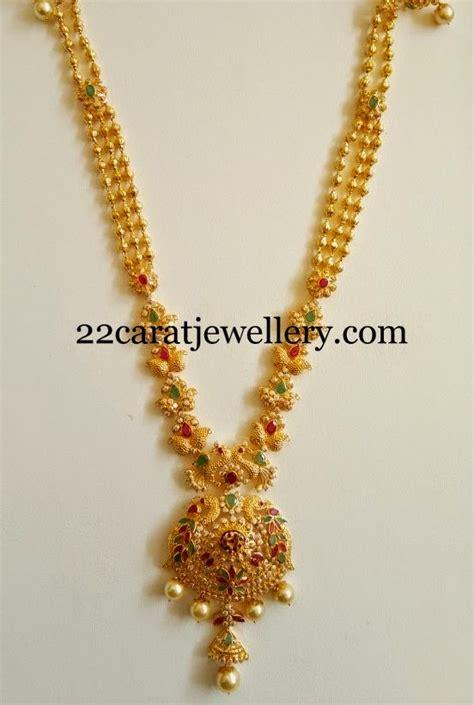 simple fancy czs  peacocks haram jewellery designs