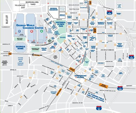 downtown atlanta tourist map
