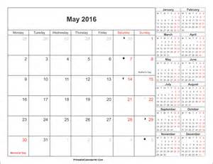 may 2016 calendar printable with holidays pdf and jpg