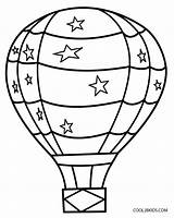 Balloon Air Basket Drawing Coloring Printable Template Pages Clipartmag sketch template